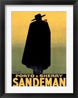 Framed Porto & Sherry Sandeman 1931