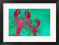 Framed Lobster In Seaweed