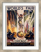 Framed Chicago World's Fair 1933