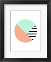 Framed Mint and Peace Stripe Ball