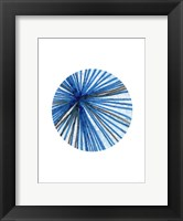 Framed Blue Black Ball