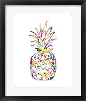 Framed Electric Pineapple