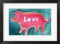 Framed Love Pig