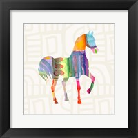 Framed Colorful Horse III