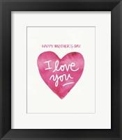 Framed Mother's Day Heart