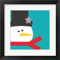 Framed Snow Head on Blue