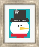Framed Happy Holidays on Blue II