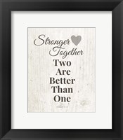 Framed Stronger Together