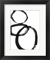 Framed Brushstroke Circles I