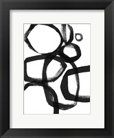 Framed Brushstroke Circles II