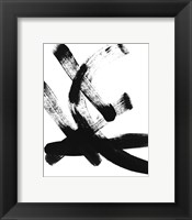 Framed BW Brush Stroke I