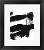 Framed BW Brush Stroke II