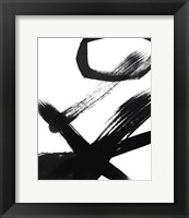 Framed BW Brush Stroke III