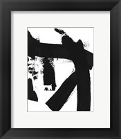 Framed BW Brush Stroke IV