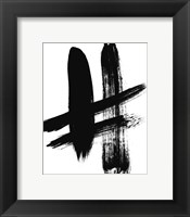 Framed BW Brush Stroke V