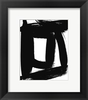 Framed BW Brush Stroke VI