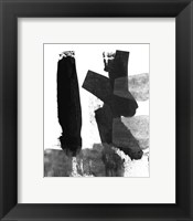 Framed BW Brush Stroke VII