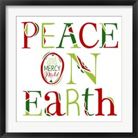 Framed Peace on Earth on White