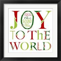 Framed Joy to the World on White