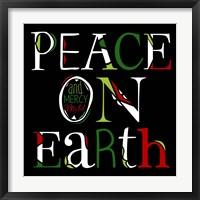Framed Peace on Earth on Black