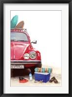 Framed Car on Beach