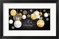 Framed Merry Christmas Gold