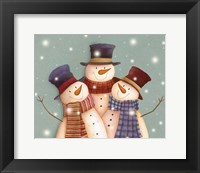 Framed Friends - Snowmen