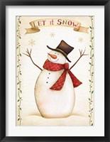 Framed Let It Snow - Snowman