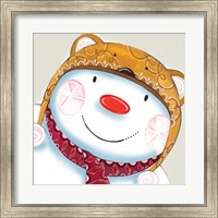 Framed Delightful Snowman