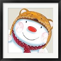 Delightful Snowman Framed Print