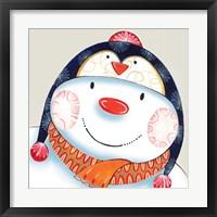 Penguin Snowman Framed Print