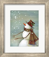 Framed Christmas Magic Snowman