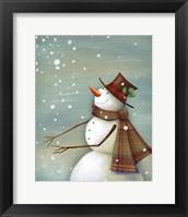 Framed Christmas Magic Snowman