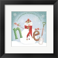 Framed Snowman Noel