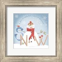 Framed Snowman Snow