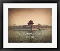Framed Vintage The Forbidden City in Beijing, China, Asia