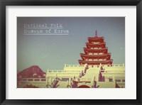 Framed Vintage National Folk Museum of Korea, Asia