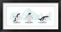 Framed Minimalist Penguin Trio, Boys