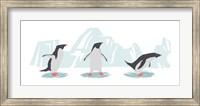Framed Minimalist Penguin Trio, Boys
