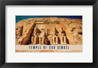 Framed Vintage Temple of Abu Simbel, Nubia, Egypt, Africa