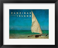 Framed Vintage Zanzibar Island, Tanzania, Africa