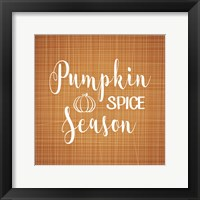 Framed Pumpkin Spice