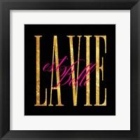 Framed Est. Belle Lavie