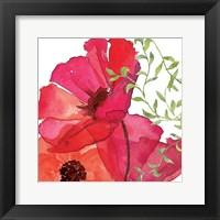 Framed Vibrant Floral I