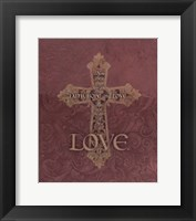 Framed Love Cross