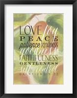 Framed Fruit of the Spirit