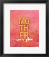 Framed Golden Mom