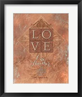 Framed Tuscan Love One Another