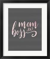 Framed Mom Boss - Pink