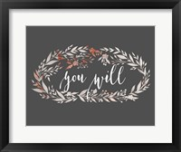 Framed You Will Wreath